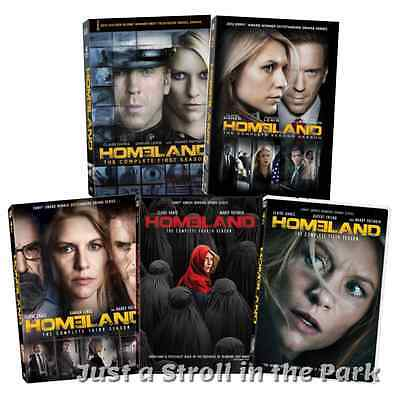 Homeland: Claire Danes TV Series Complete Seasons 1 2 3 4 5 Box / DVD Set(s) NEW