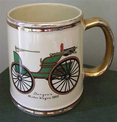 Vintage Gibsons Staffordshire Collectable Beer Stein Duryea's Motor Wagon 1895