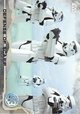 2016 Star Wars Rogue One Series One Gray Squad #26 Defense of Scarif 089/100