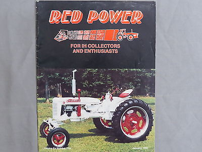 International Harvester IH Farmall Tractor RED POWER Magazine 1992 January