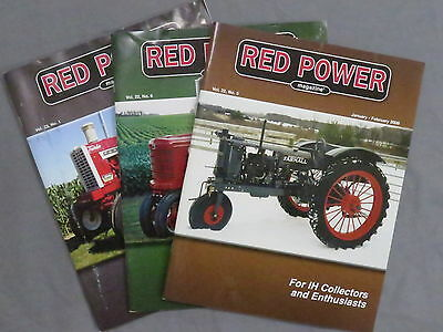 International Harvester IH Farmall Tractor RED POWER Magazine 2008 LOT of 3