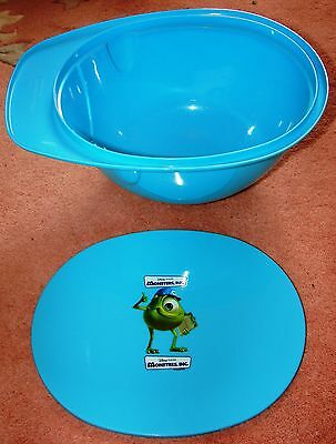 Disney Kelloggs Monsters, Inc. Cereal Bowl with Lid or Hard Hat