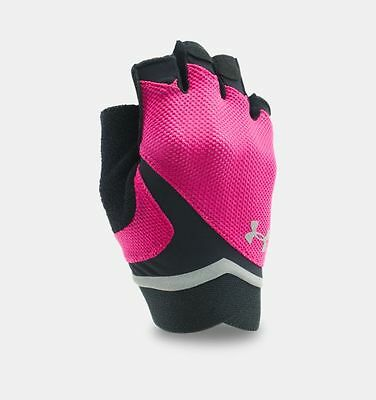 Under Armour Women's Tropic Pink/Black UA Flux Training Gloves -size choices