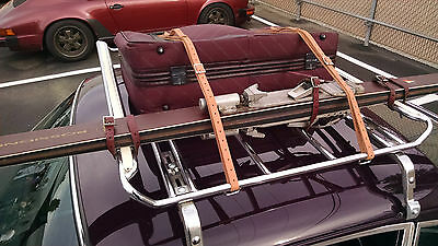 Hand Made Leitz Roof Rack Leather Luggage Tire Belts Straps PORSCHE 911 & 912
