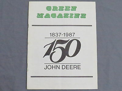 John Deere Green Magazine November 1986 Tractor Plow early! 150th