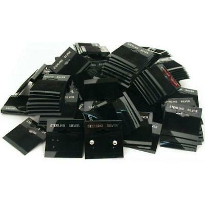 200 Earring Cards Pads Black Sterling Silver Displays