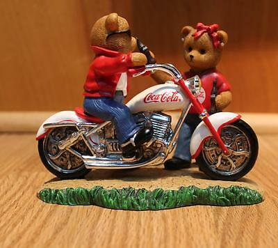 """Vintage """"On The Go With Coco Cola Collection"""" Collectible Bear Figurine 3599"""