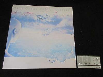 Rush 1984 Japan Grace Under Pressure Tour Book w Osaka Concert Ticket Program