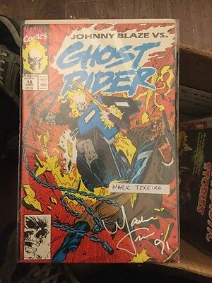 Ghost Rider 2nd Series #14 Signed Mark Texeira