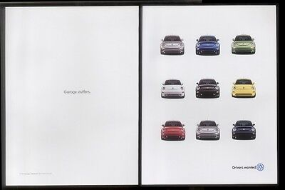 2000 VW Volkswagen New Beetle 9 colors car photo ad
