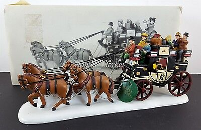 Dept 56 Holiday Coach Heritage Village Accessory 55611 EUC