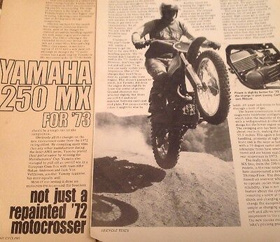 2 Race Tests  3 Advertisements For1973  Yamaha MX250 Motocrosser 15 Pages