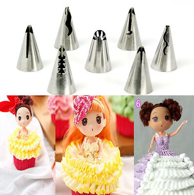 7pcs Flower Cake Icing Piping Nozzles Pastry Tips Baking DIY Decoration Tools