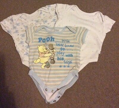 Set Of 3 Baby Boy Vests. Newborn/0-3 Months