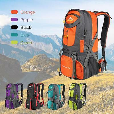 50L Waterproof Nylon Outdoor Camping Hiking Bag Backpack Rucksack Travel Daypack
