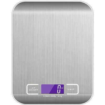 Electronic Cooking Food Scale with LCD Display Kitchen Scale 5000g, 0.1oz/ 1g