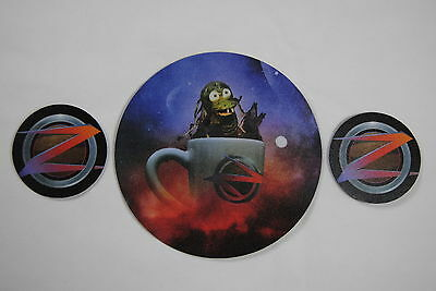 Devin Townsend Ziltoid Mouse Mat Coasters Coffee Tea Set Bnwot Official Syl Rare