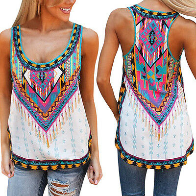 Women Fashion Summer Vest Top Sleeveless Shirt Blouse Casual Tank Tops T-Shirt
