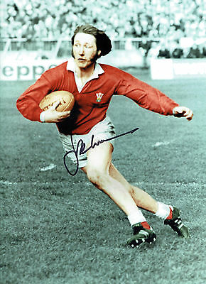 J.P.R WILLIAMS Signed Autograph MASSIVE 16x12 Wales Welsh RUGBY Photo AFTAL COA