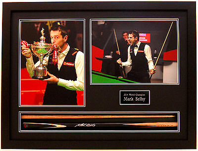 Mark SELBY SIGNED & Framed Snooker Cue + Photo Autograph 2014 World Champion