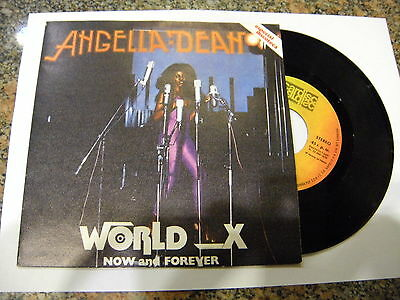 Angella Dean ‎– World X / Now And Forever ' 7'' MINT SPAIN PRESS
