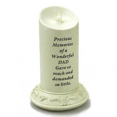 Special Dad Solar Powered Memorial Graveside Candle with Verse