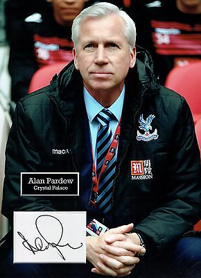 Alan PARDEW SIGNED Autograph 16x12 Photo Dry Mount AFTAL COA Crystal Palace