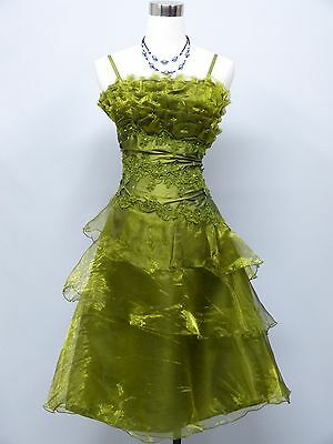 Cherlone Green Prom Party Ball Evening Bridesmaid Wedding Formal Dress Size 14