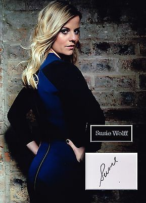Susie WOLFF SIGNED Autograph 16x12 SEXY Photo Dry Mount AFTAL COA Williams F1