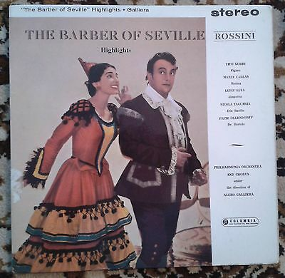 ROSSINI -The Barber Of Seville Highlights- Columbia Blue/Silver SAX  2438 Callas