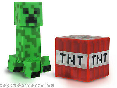 30 Day Special MINECRAFT - Core Creeper Action Figure with Accessory #Item 16503