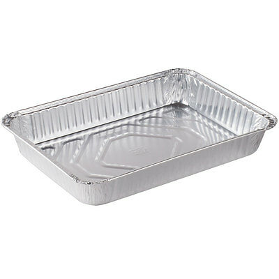 Traybake disposable aluminium foil trays rectangle 12 x 8 x1.5 inches pack of 10