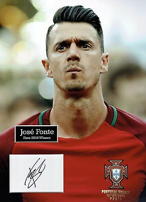 Jose FONTE SIGNED Autograph 16x12 Photo Dry Mount AFTAL COA Portugal World Cup