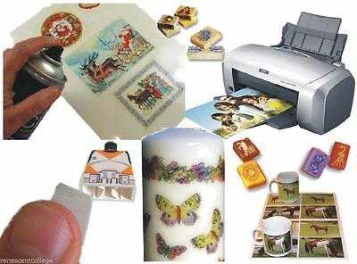 Waterslide Transfer/Decal Paper Inkjet/Laser Printer for Candle, Soap, Glass A4