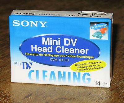 Sony DVM-12CLD Mini DV Head Cleaner Digital Video Cleaning Tape NEW SEALED