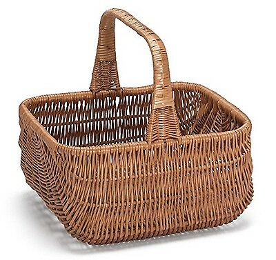 Prestige Wicker Willow Basket with Handle Natural 30 x 21 x 13 cm NEW