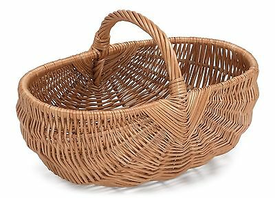 Prestige Wicker Willow Basket with Handle Natural 44 x 29 x 24 cm NEW
