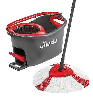 Vileda Easy Wring and Clean Turbo Microfibre Mop and Bucket Set NEW