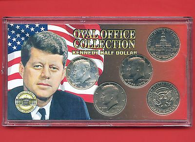 Kennedy Half Dollar Collection In Case (5 Coins) By Morgan Mint