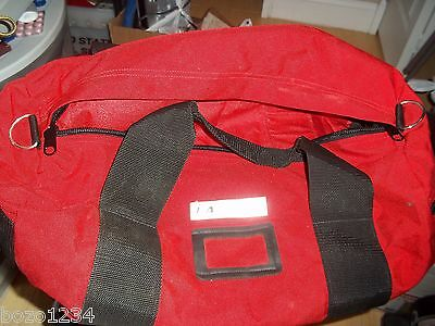 L.a.rescue Emergency Rescue Prod. Red Ems Emt Fireman Gear Equipment Duffle Bag