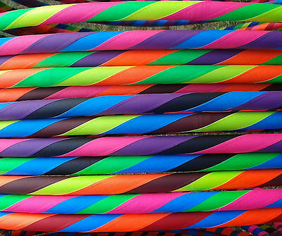 """Rainbow Dragon 20mm x 40"""" Travel HULA HOOP (MDPE/Weighted/Adult/Collapsible)"""