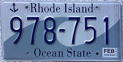 FREE UK POSTAGE American Rhode Island Wave USA License Number Plate 978-751