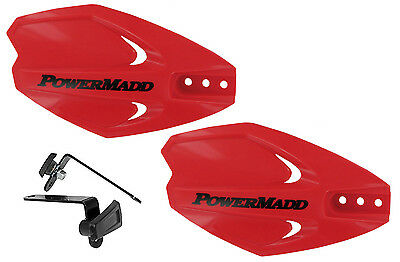 Powermadd Power X Series Handguards Guards Red Mount Kit Motorcycle Scooter