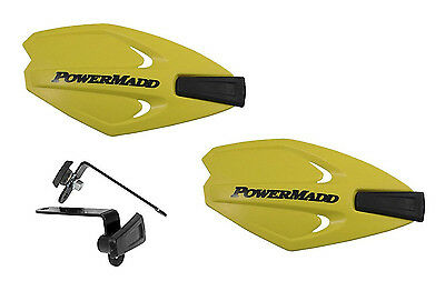 Powermadd Power X Series Handguards Guards Yellow Mount Kit Motorcycle Scooter