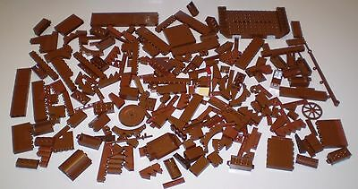 Lot of 1 lb of Used LEGO Brown Bricks 1 Pound Tile Slope Plate