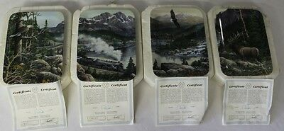 Dominion China 97 Heart of the Rockies 1st-4th Issue Collector's Plates Set of 4