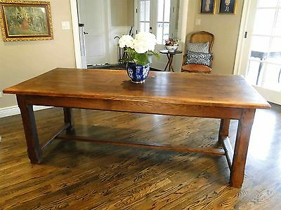Rustic Antique French Country Farm Dining Table Provence Old Thick Boards Old