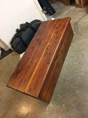 Antique / Vintage Cedar Chest, Trunk, Box, Simple Old Large 48""