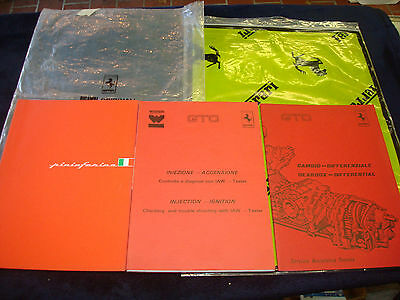 3 Original manuals  Ferrari 288 GTO brochure w/ photos Gearbox Ignition injector