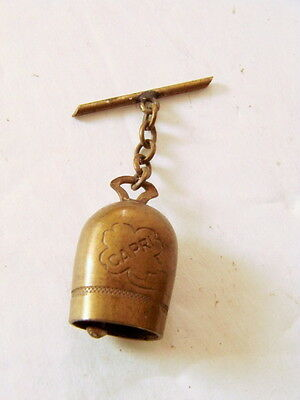 VTG AVIATOR'S LUCKY BELL of SAN MICHELE CAPRI Charm Fob WWII Pilots 1940s pin